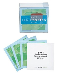Travel Buddy Gift Ideas - Table Topics Conversation Cards