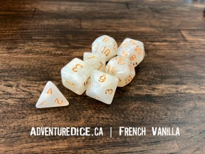 French Vanilla Dice