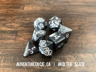 Molten Slate RPG dice