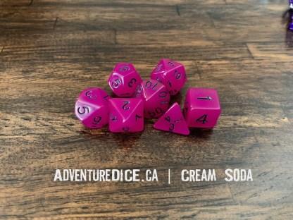 Cream Soda RPG dice