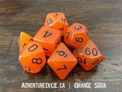 Orange Soda RPG dice