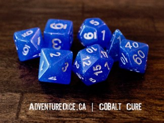 Cobalt Cure RPG dice