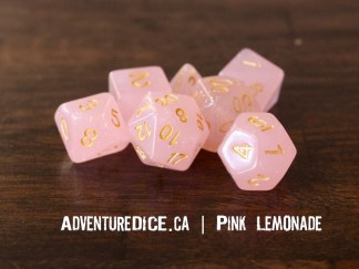 Pink Lemonade RPG dice