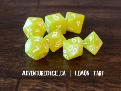 Lemon Tart RPG dice
