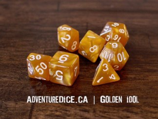 Golden Idol RPG dice