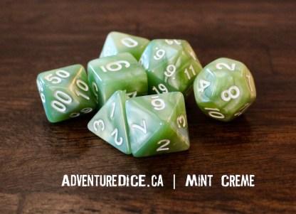 Mint Creme RPG dice