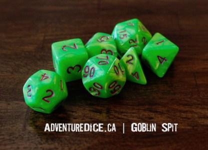 Goblin Spit RPG dice