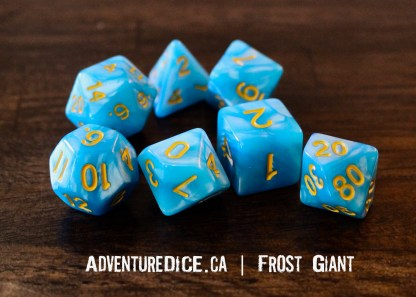 Frost Giant RPG dice set