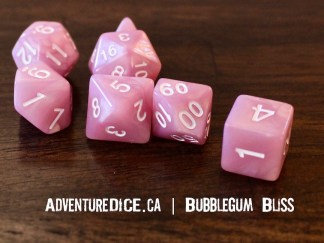 Bubblegum Bliss RPG dice set