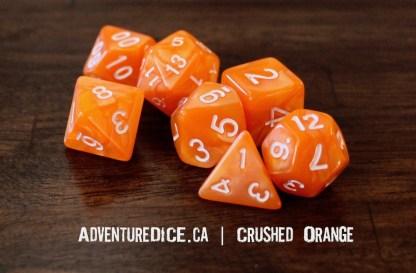 Crushed Orange RPG dice set