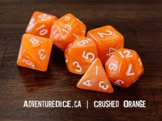 Crushed Orange RPG dice set