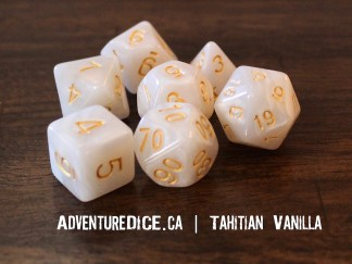Tahitian Vanilla RPG dice set