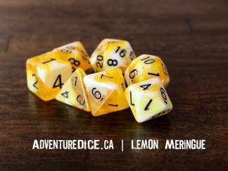 Lemon Meringue RPG dice