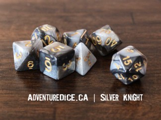 Silver Knight RPG dice