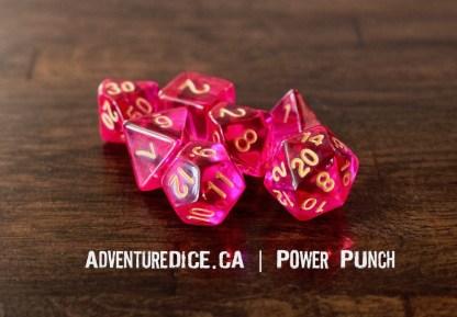 Power Punch RPG dice set