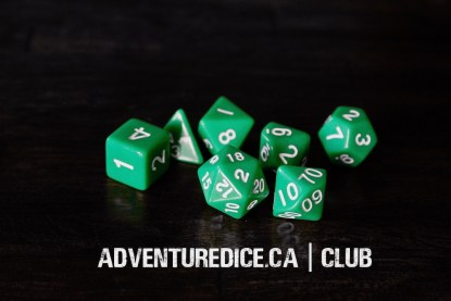 Club dice set