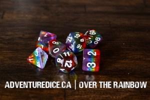 Over The Rainbow dice set