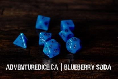 Blueberry Soda dice set