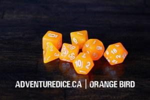 Orange Bird dice set