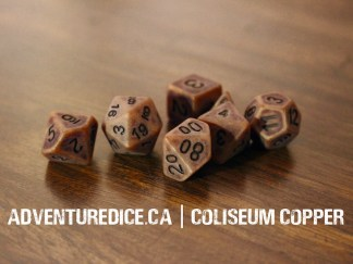 Coliseum Copper dice set