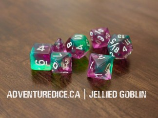 Jellied Goblin dice set