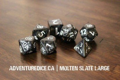 Molten Slate Large dice set