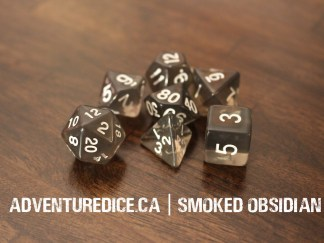 Smoked Obsidian dice set