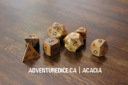 Acacia dice set