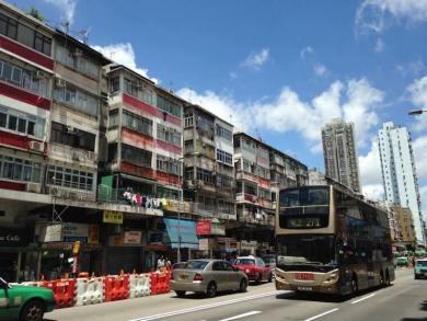 香港の街の写真