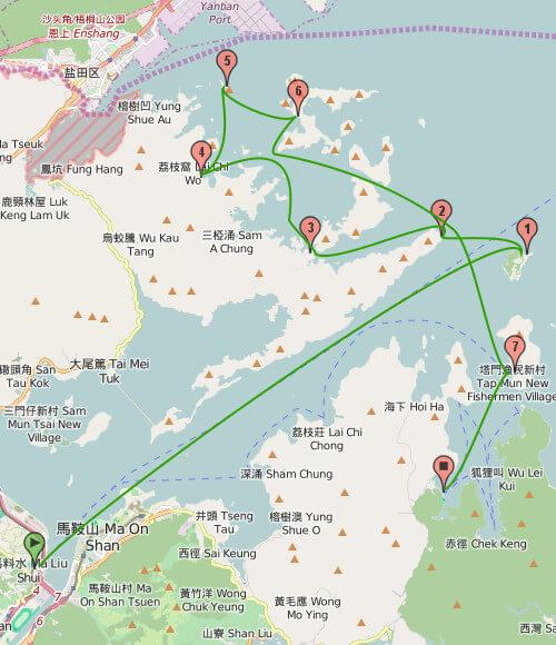 ツアーのマップ