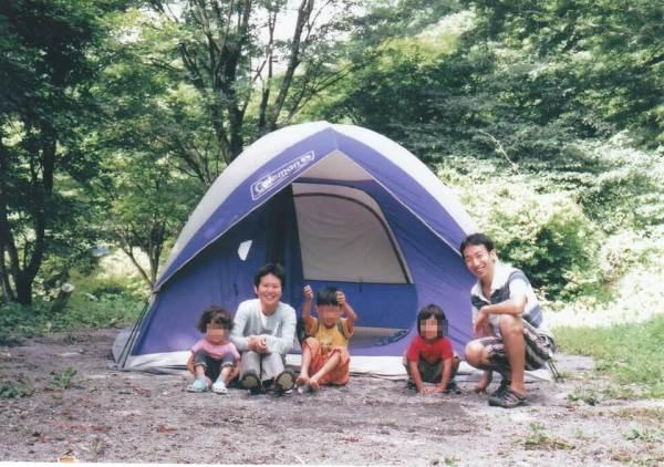 KEENサンダルでキャンプの写真