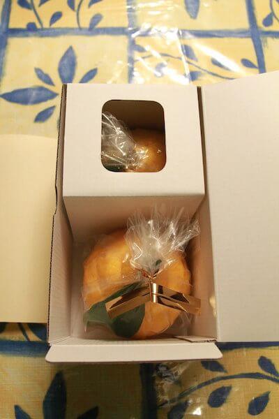 三宝柑福居袋の箱を開けた写真
