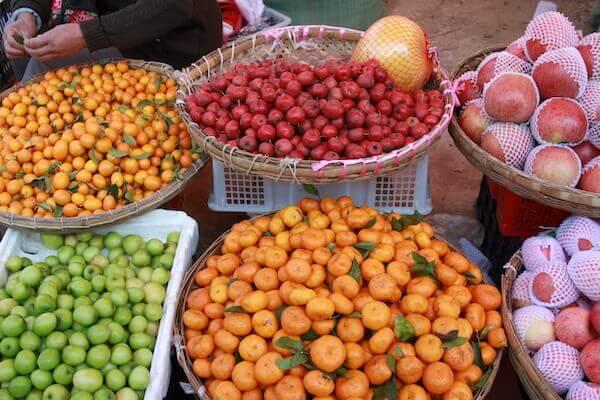 果物売り場の写真