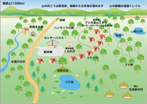 森の家のマップ画像