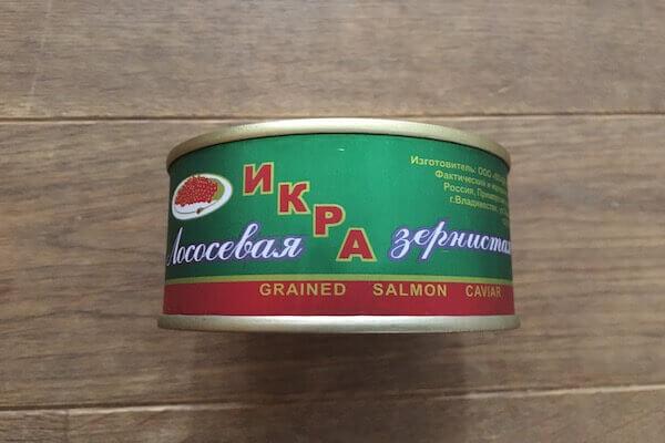 イクラの缶詰の写真