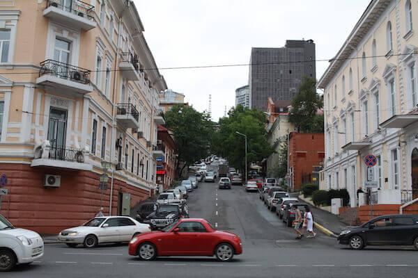 ウラジオストクの車の写真