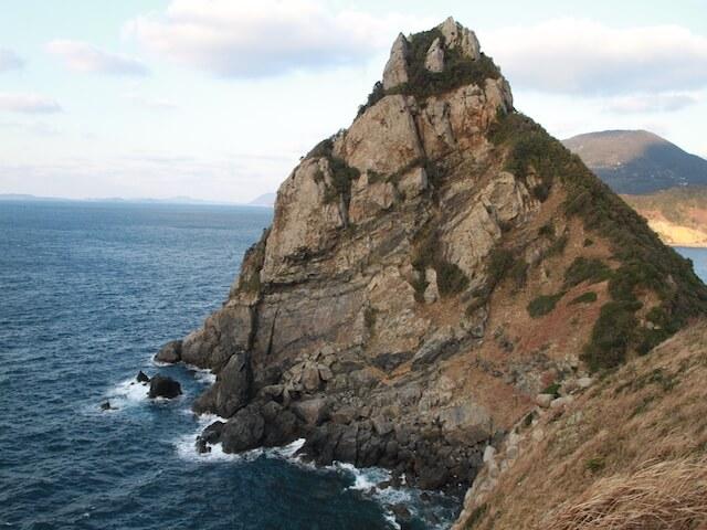 矢堅目の奇岩の写真