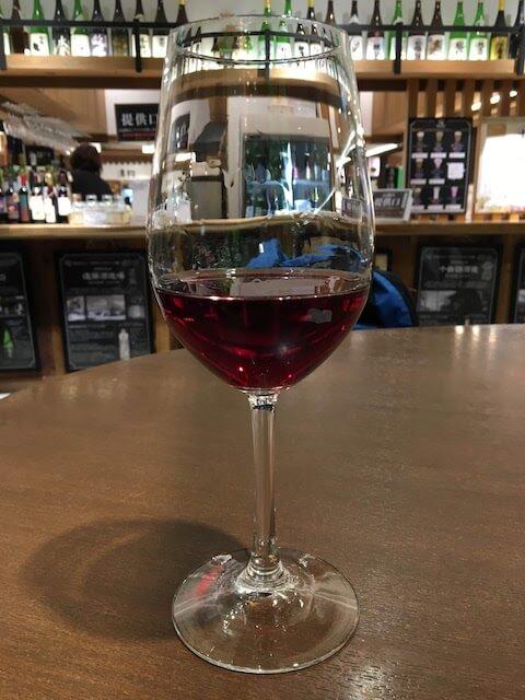 グラスワインの写真