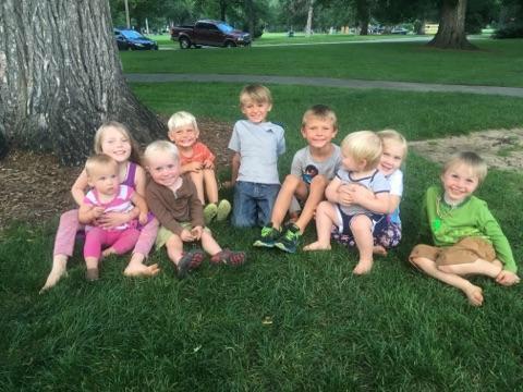 9 kids 3 families