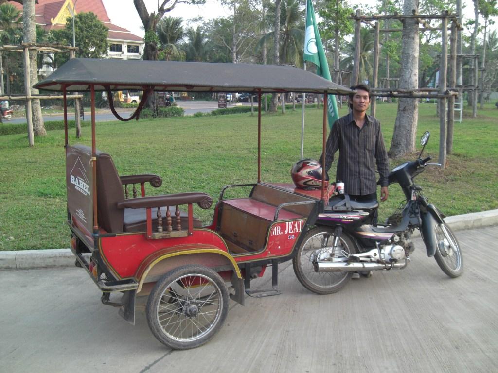 Dashing through the snow, I mean Cambodia, in a 1-horse open sleigh, I mean a 7 hp tuk tuk...