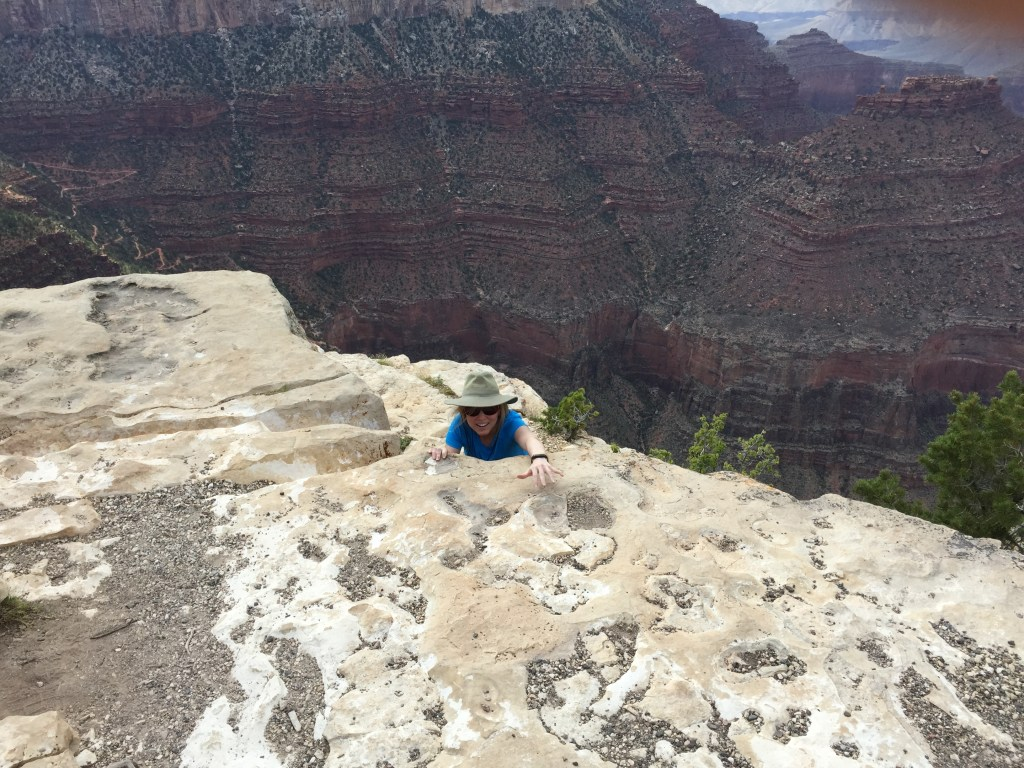 Awesome day... climbing, hiking, walking and lots and lots of drinking... 113 degrees!!