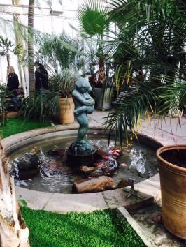 Overdekte tropische tuin