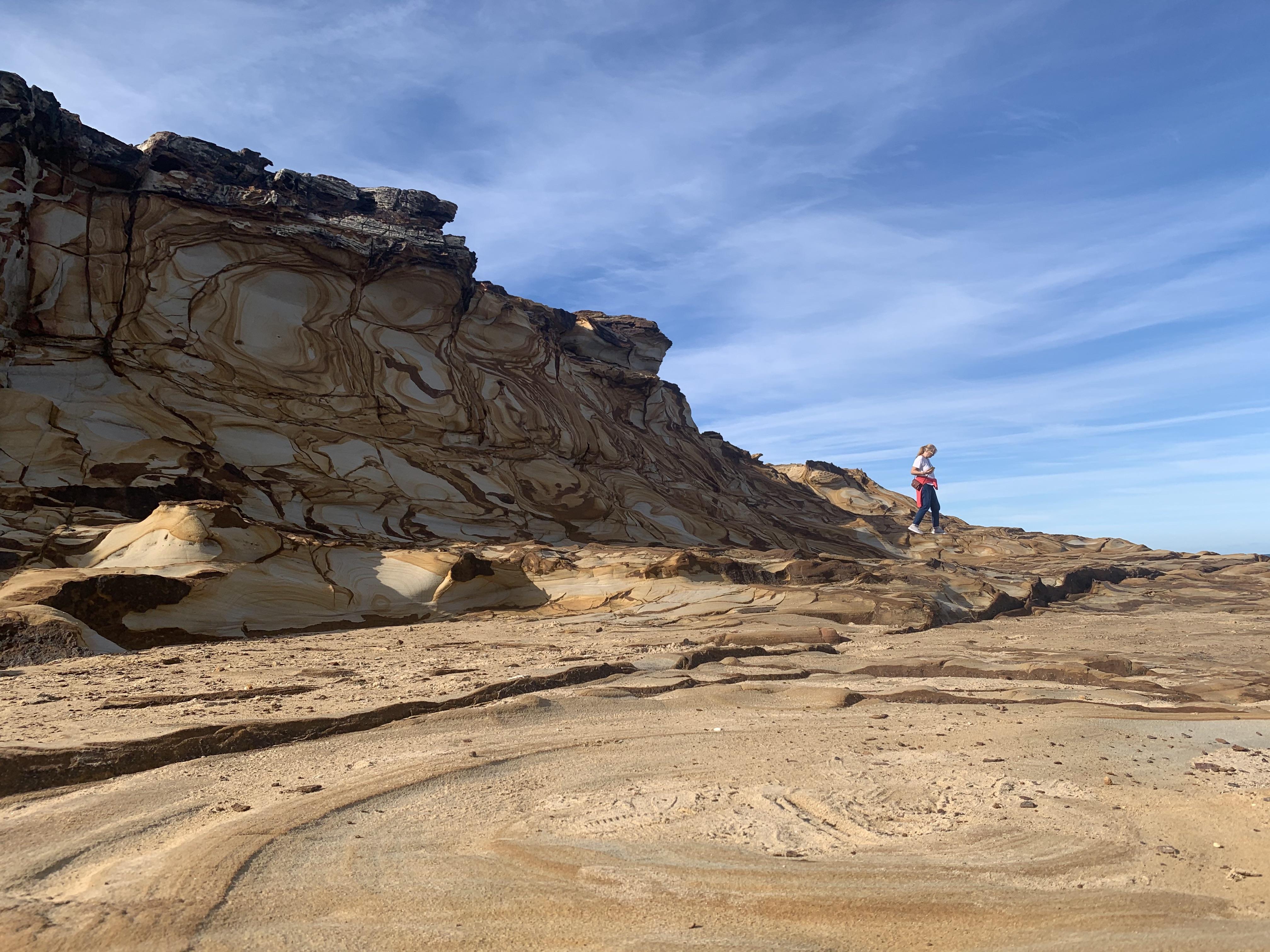 sand ston cliff in Killcare