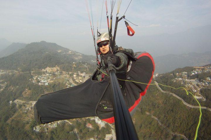 Raju Rai flying in Gangtok