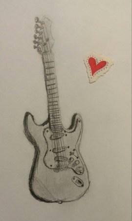 Guitar, Pencil, 25 December 2008