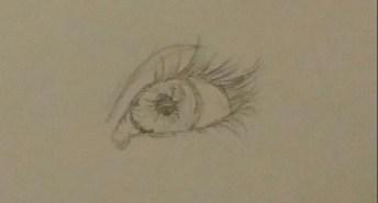 Eye Drawing, Pencil, 3 October 2015
