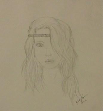 Sketch of Girl, Pencil, 3 October 2015