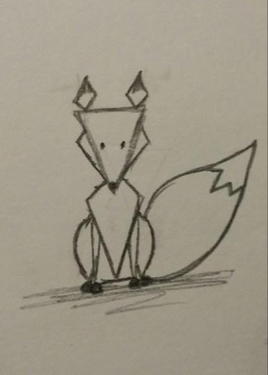Geometric Fox, Pencil on Paper, 21 November 2015