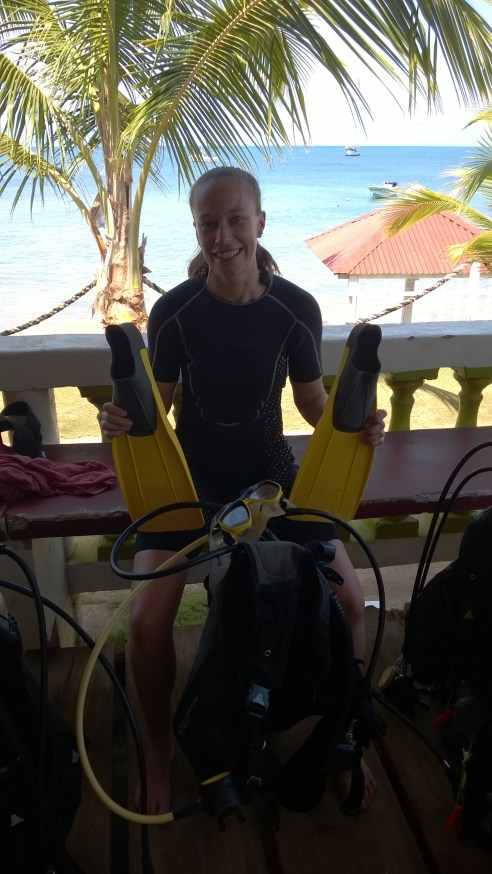 First time diving!
