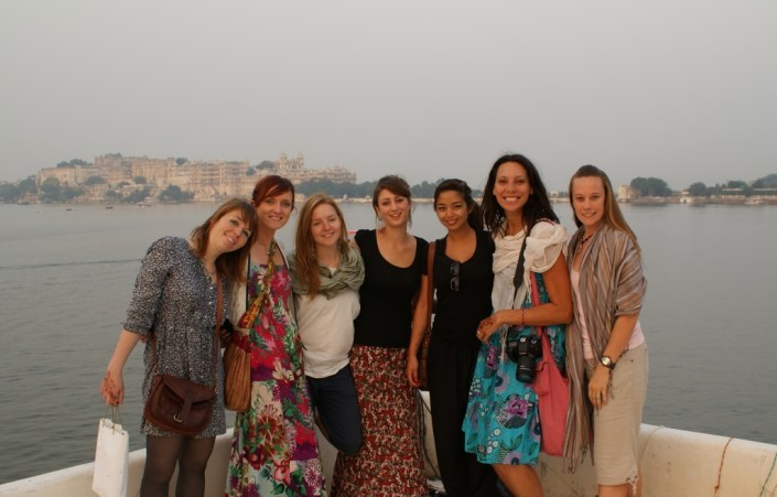 The girls of the group in Udaipur, India.